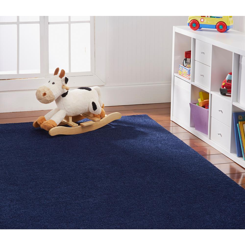 OurSpace Navy 7 ft. x 10 ft. Bright Area Rug