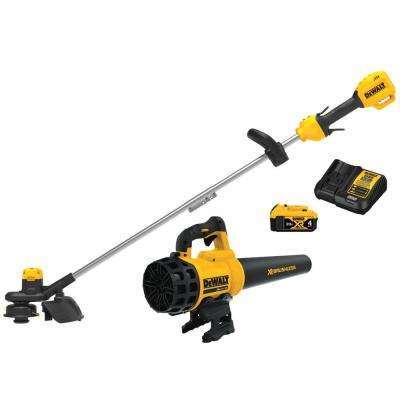 20-Volt MAX Cordless Lithium-Ion String Trimmer/Blower Combo Kit (2-Tool) with 4 Ah Battery Pack and Charger