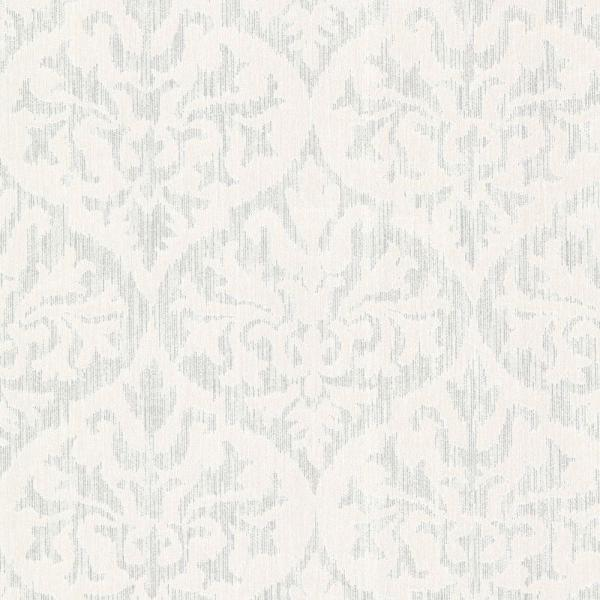 Sumatra Silver Ikat Damask Paper Strippable Roll Wallpaper (Covers 56.4 sq. ft.)
