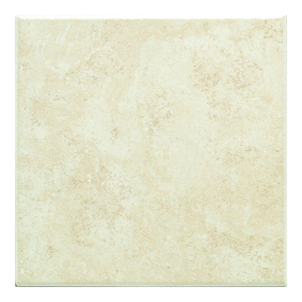 Daltile Brazos Cream 18 in. x 18 in. Ceramic Floor and Wall Tile (10.9 sq. ft. / case)-DISCONTINUED