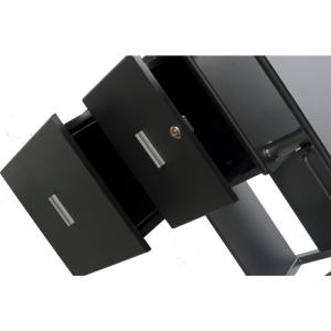 2 onespace rothmin black computer desk with storage cabinet