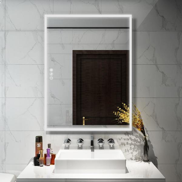 Bathroom Mirror LED 90x60cm Bathroom Mirror Wall Mirror Lighting Mirror