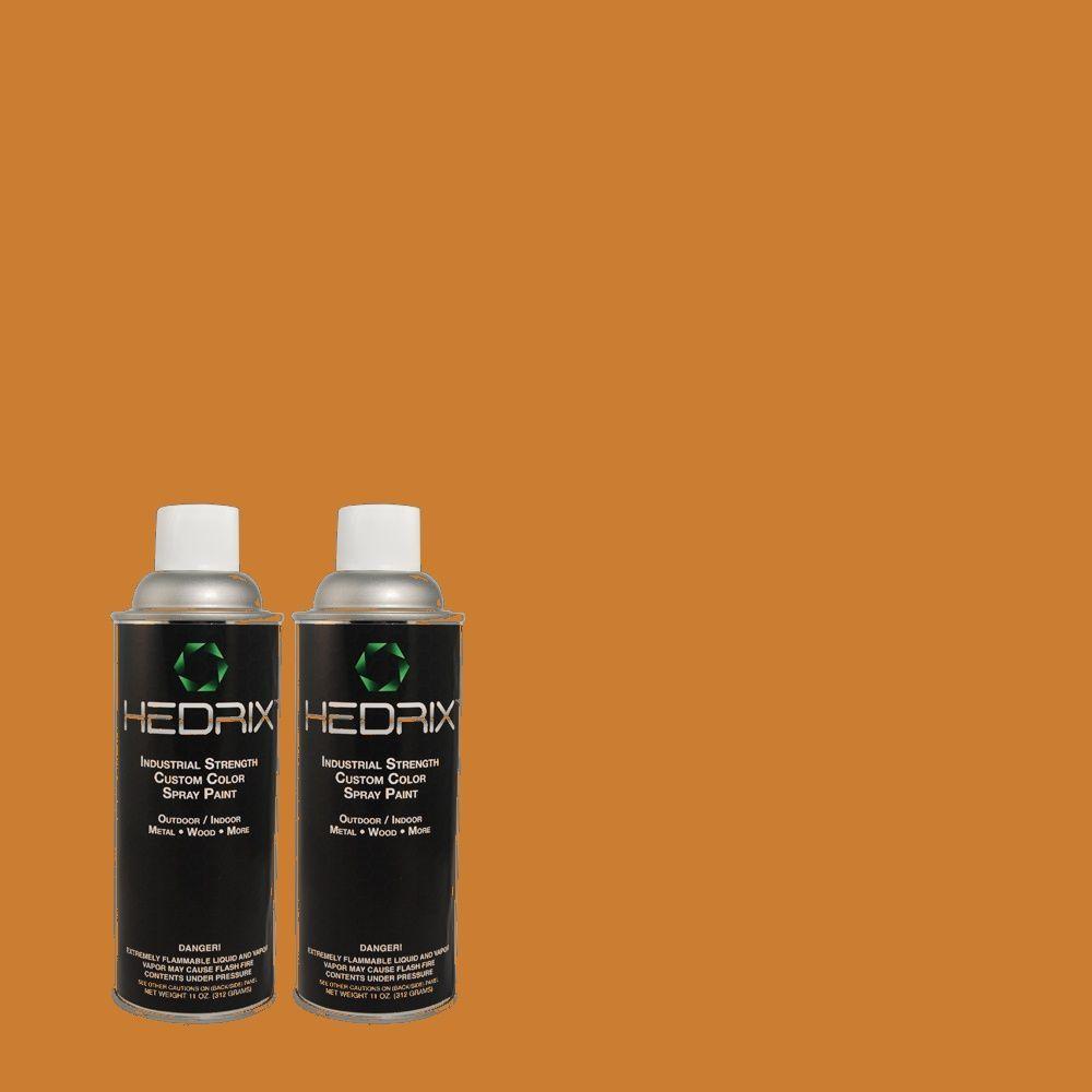 Hedrix 11 oz. Match of 270D-7 Fall Leaves Gloss Custom Spray Paint (2-Pack)