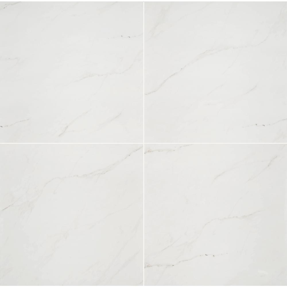 Aria Ice 24 in. x 24 in. Polished Porcelain Floor and