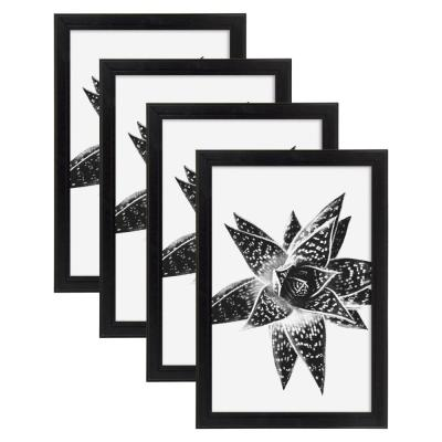 Kieva 11 in. x 17 in. Black Picture Frame (Set of 4)