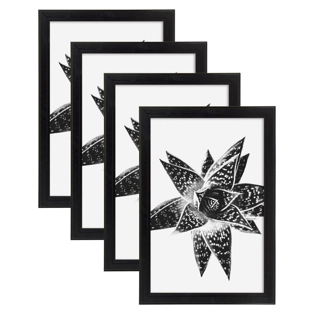 Kieva 11 in. x 17 in. Black Picture Frame (Set of 4)