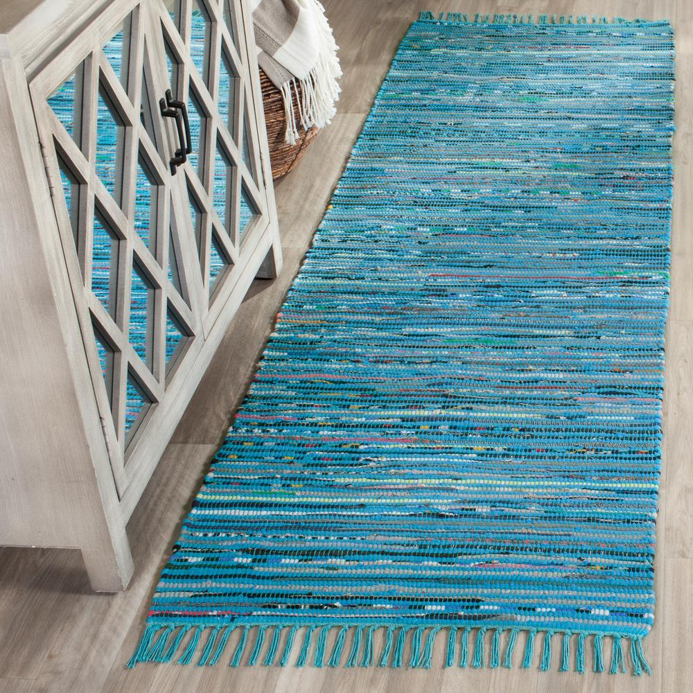Safavieh Rag Rug Turquoise/Multi 2 Ft. 3 In. X 7 Ft