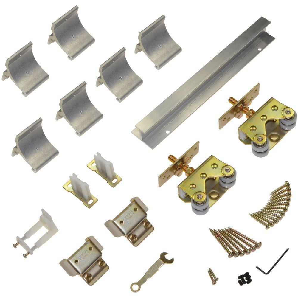 Johnson Hardware 200WM Series 96 in. Track and Hardware Set for Wall-Mount Sliding Doors