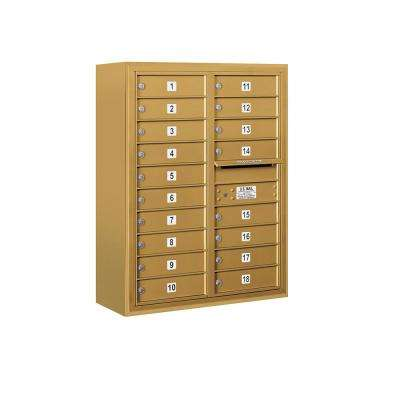 3800 Horizontal Series 18-Compartment Surface Mount Mailbox