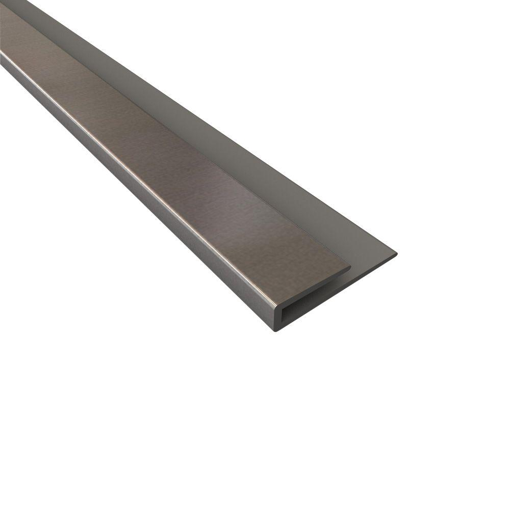 4 ft. Brushed Aluminum Large Profile J-Trim