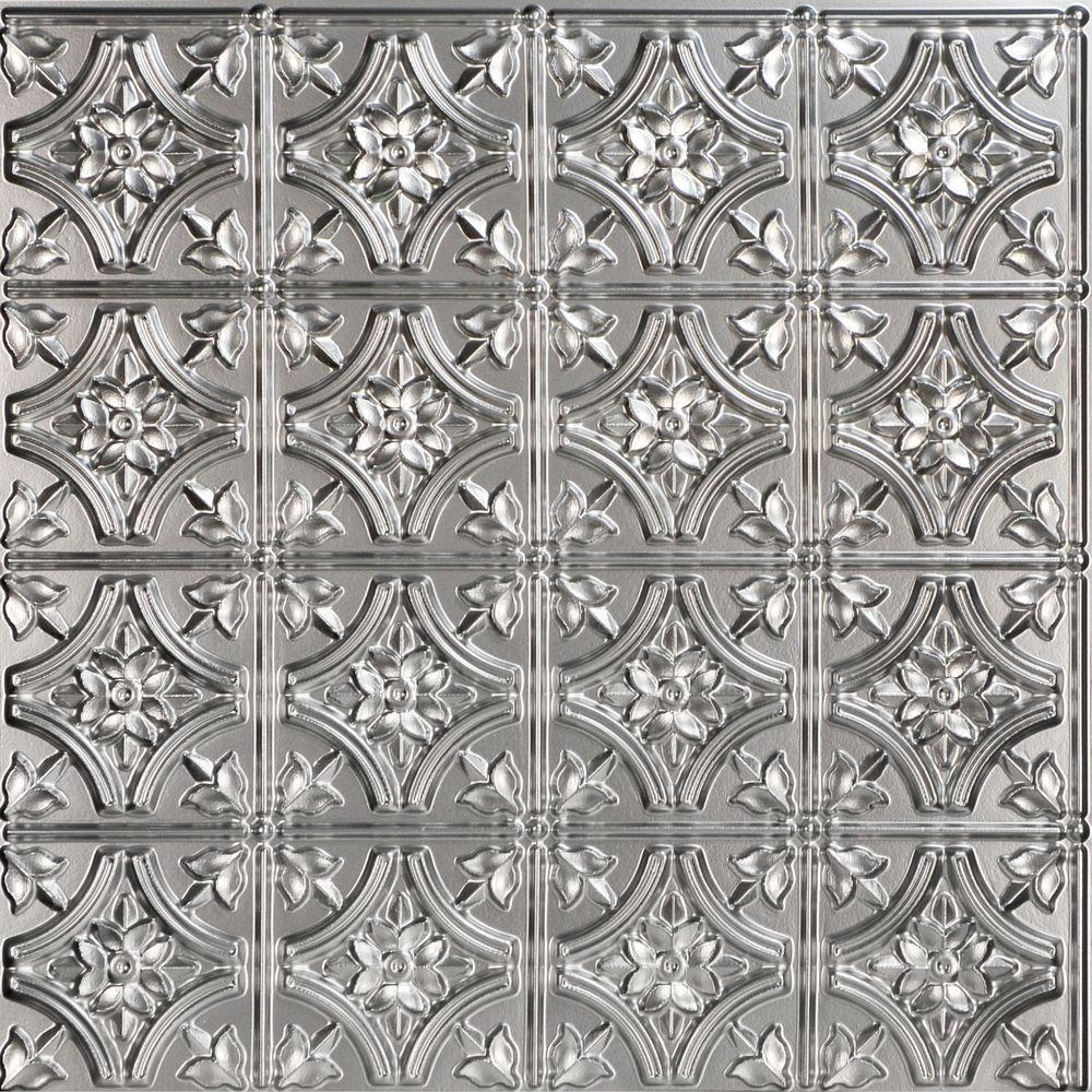 Unusual 1 Ceramic Tile Big 12X12 Ceramic Tile Clean 2 X 4 White Subway Tile 20X20 Floor Tile Old 2X2 Acoustical Ceiling Tiles Gray4 X 16 White Subway Tile Gothic Reims 2 Ft. X 2 Ft. PVC Glue Up Ceiling Tile In Silver (100 ..