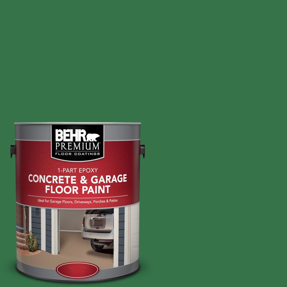 1 gal. #P410-7 Grasslands 1-Part Epoxy Satin Interior/Exterior Concrete and Garage Floor Paint