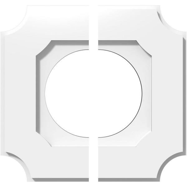 Ekena Millwork 1 In P X 7 In C X 12 In Od X 6 In Id Locke Architectural Grade Pvc Contemporary Ceiling Medallion Two Piece Cmp12le2 06000 The Home Depot