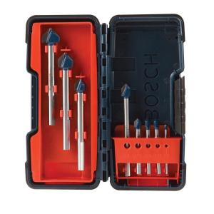 Bosch Carbide-Tipped Glass and Tile Drill Bit Set (8-Piece) by Bosch