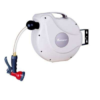 33 ft. Retractable Garden Hose Reel NW Series Includes Hose and Spray Nozzle