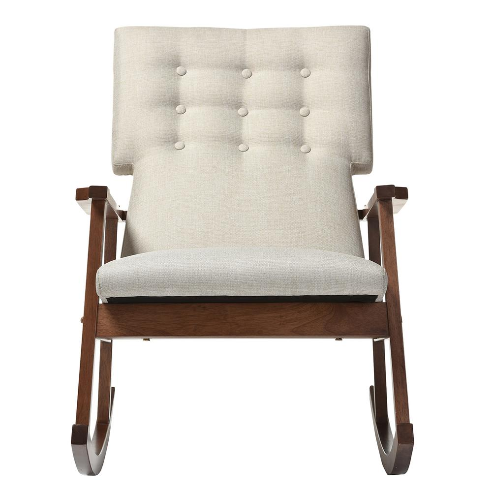 baxton studio agatha mid century beige fabric upholstered rocking chair 28862 6763 hd the home. Black Bedroom Furniture Sets. Home Design Ideas