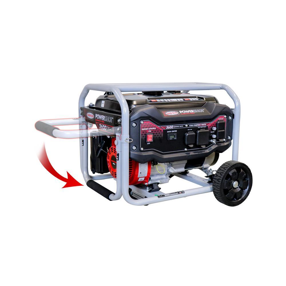 3,600-Watt Gasoline Powered Portable Generator