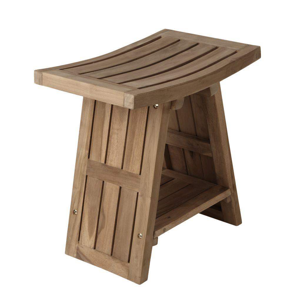 Barclay Products Triad Slotted Teak Shower Seat