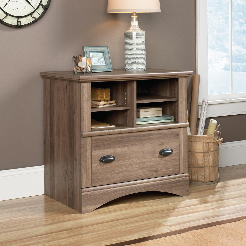 SAUDER Harbor View Salt Oak Lateral File Cabinet with 34-Drawer-42234342 - The  Home Depot