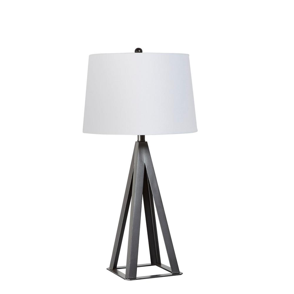 Silverwood 29 in  Metal Square Base Table Lamp