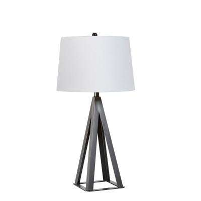 29 in. Metal Square Base Table Lamp