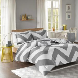 Gemini 3-Piece Grey Twin Comforter Set