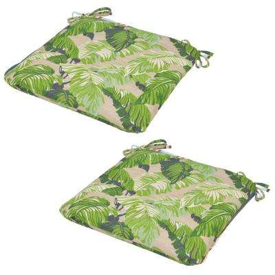 Fern Tropical Outdoor Seat Cushion (2-Pack)