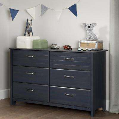 Ulysses 6-Drawer Blueberry Dresser