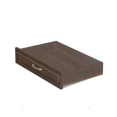 23 1/2 in W X 5 in H X14 1/2 in D Mocha Storage Wood Drawer