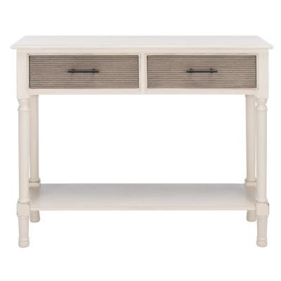 Ryder 35.5 in. Distressed White 2-Drawer Console Table