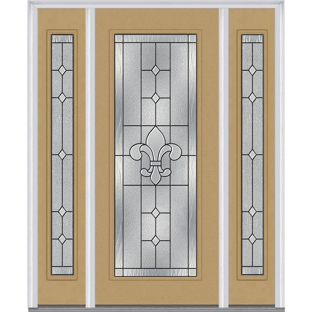 Mmi Door 64 In X 80 In Carrollton Left Hand Full Lite Decorative