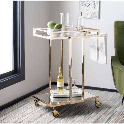 Capri 2-Tier Gold Bar Cart