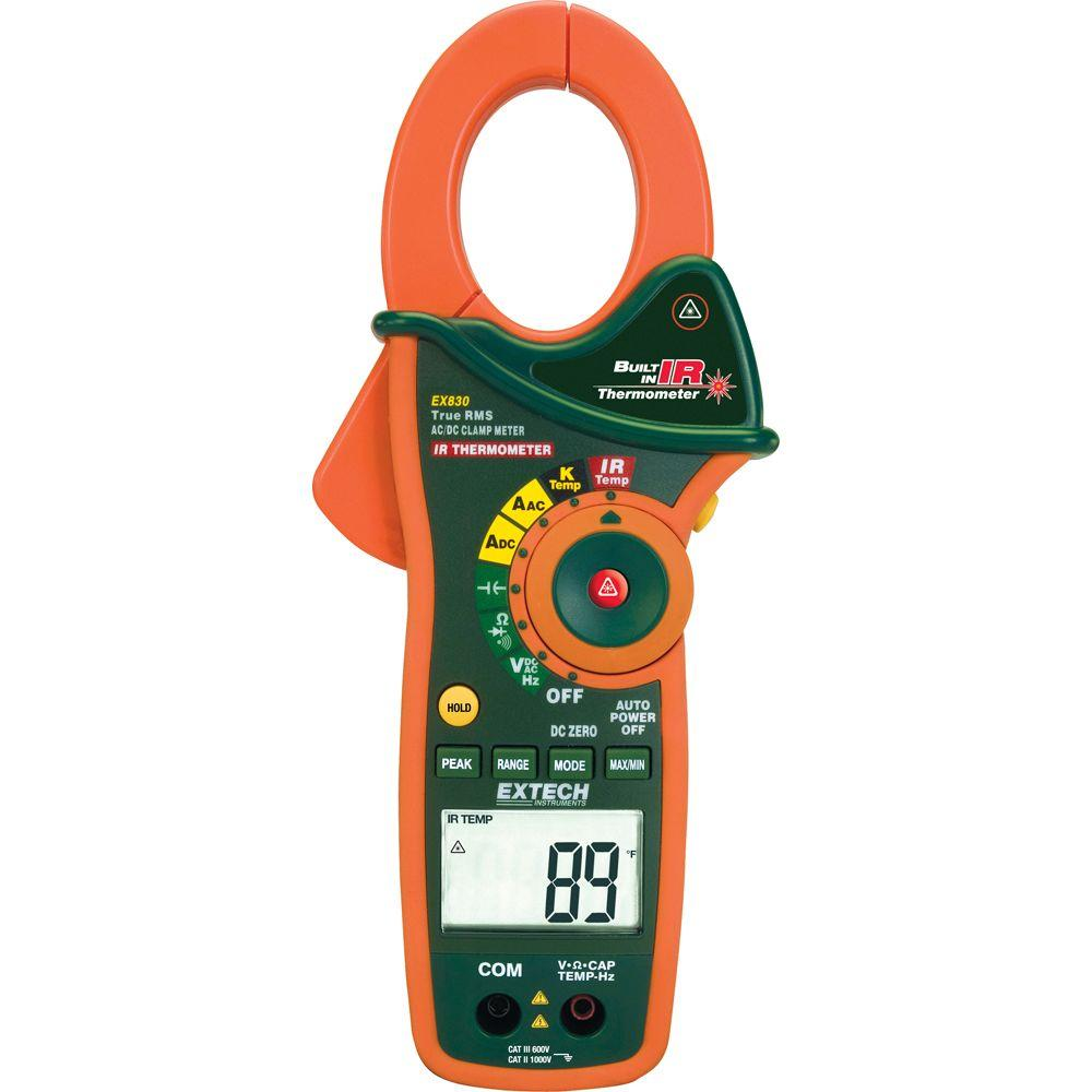 1000-Amp True RMS AC/DC Clamp Meter with IR Thermometer