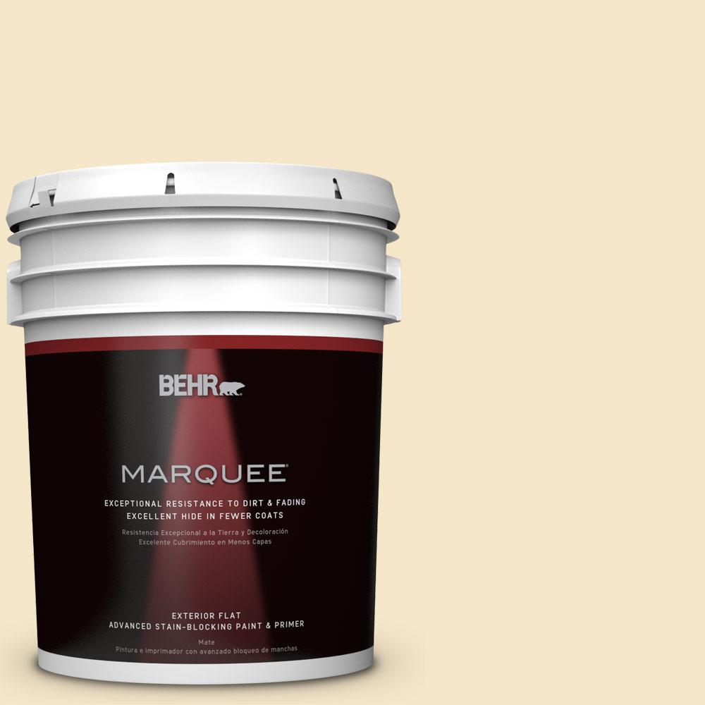 BEHR MARQUEE 5-gal. #M320-2 Rice Wine Flat Exterior Paint