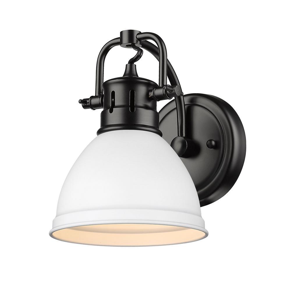 Duncan 4.875 in. 1-Light Matte Black Vanity Light