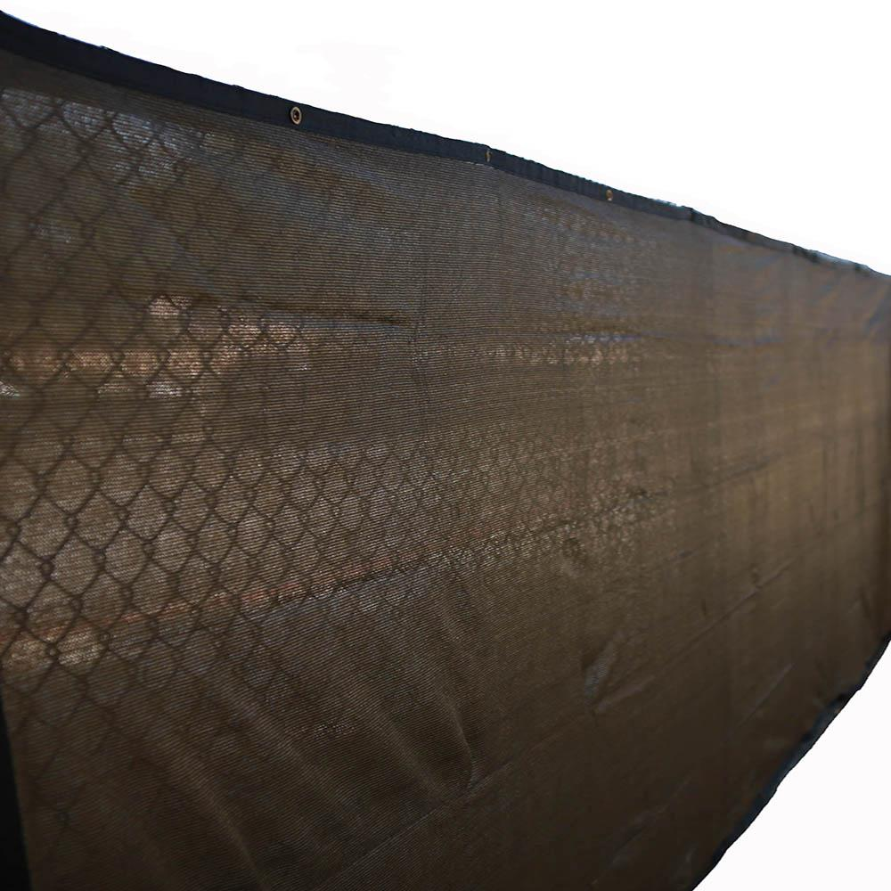 Xcel 72 in. H x 600 in. W Polyethylene Brown Privacy/Wind Screen ...