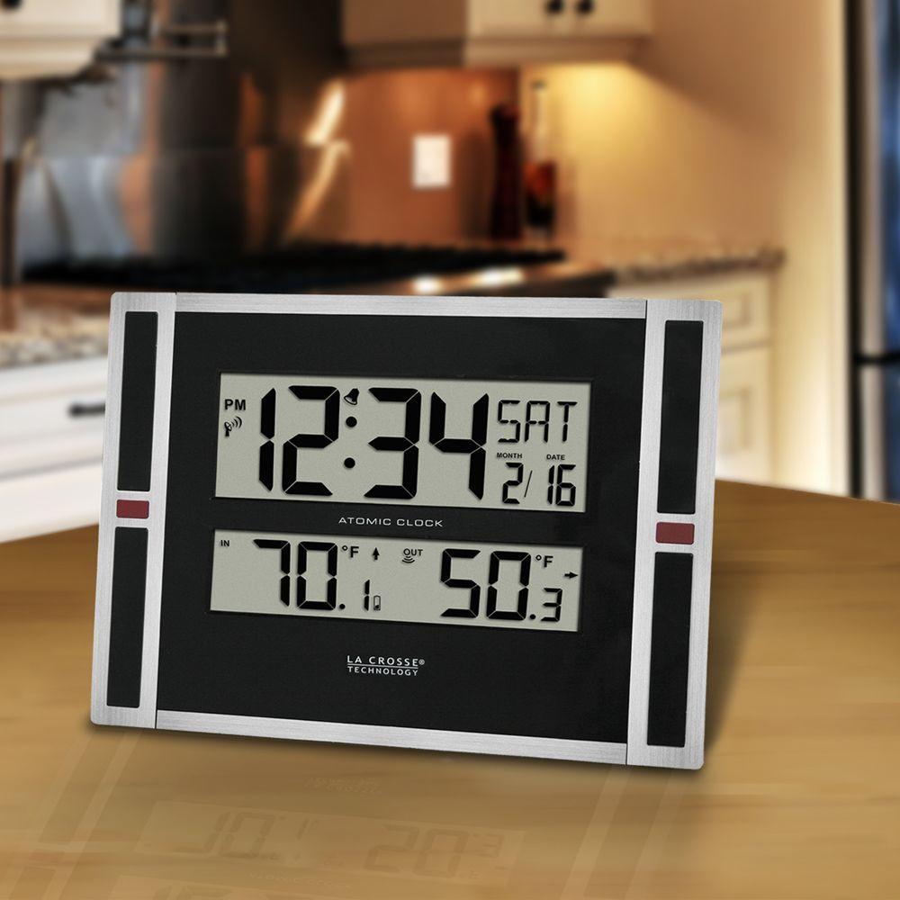 11 in. WWVB Digital Clock with Temperature