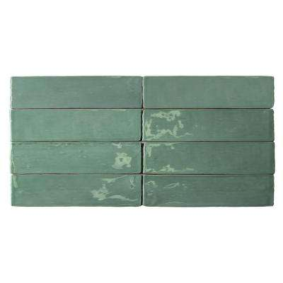 Catalina Green Lake Ceramic Wall Tile - 3 in. x 6 in. Tile Sample