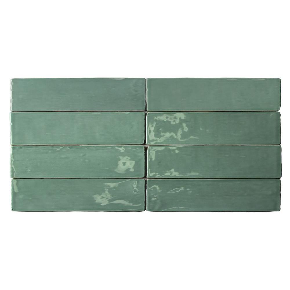 Catalina Green Lake Ceramic Wall Tile - 3 in. x 6 in. Tile Sample