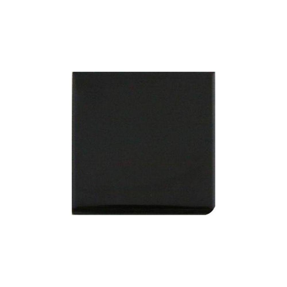 Semi-Gloss Black 4-1/4 in. x 4-1/4 in. Bullnose Corner Glazed Ceramic