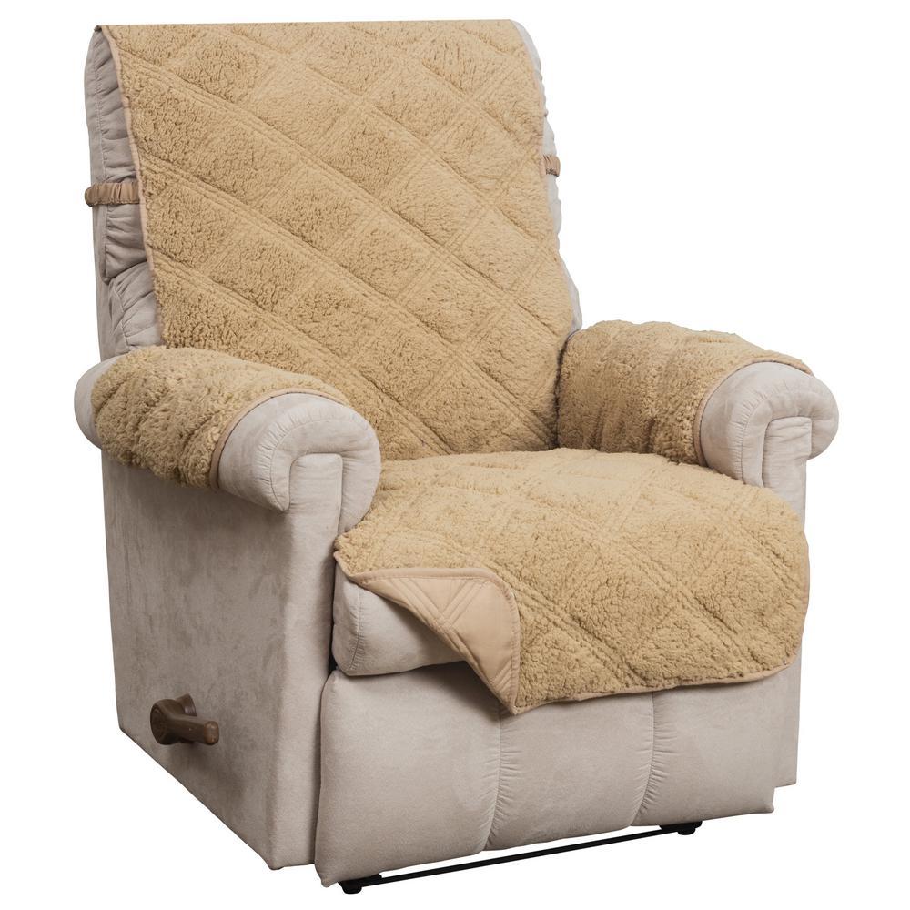 Hudson Toast Waterproof Recliner Furniture Cover