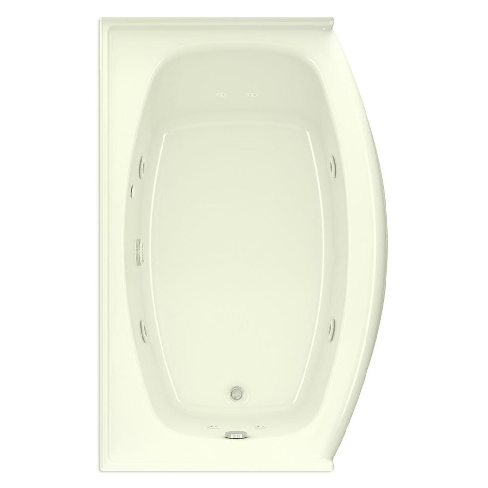 Victoria Q 5 ft. Left Drain Acrylic Whirlpool Bath Tub in