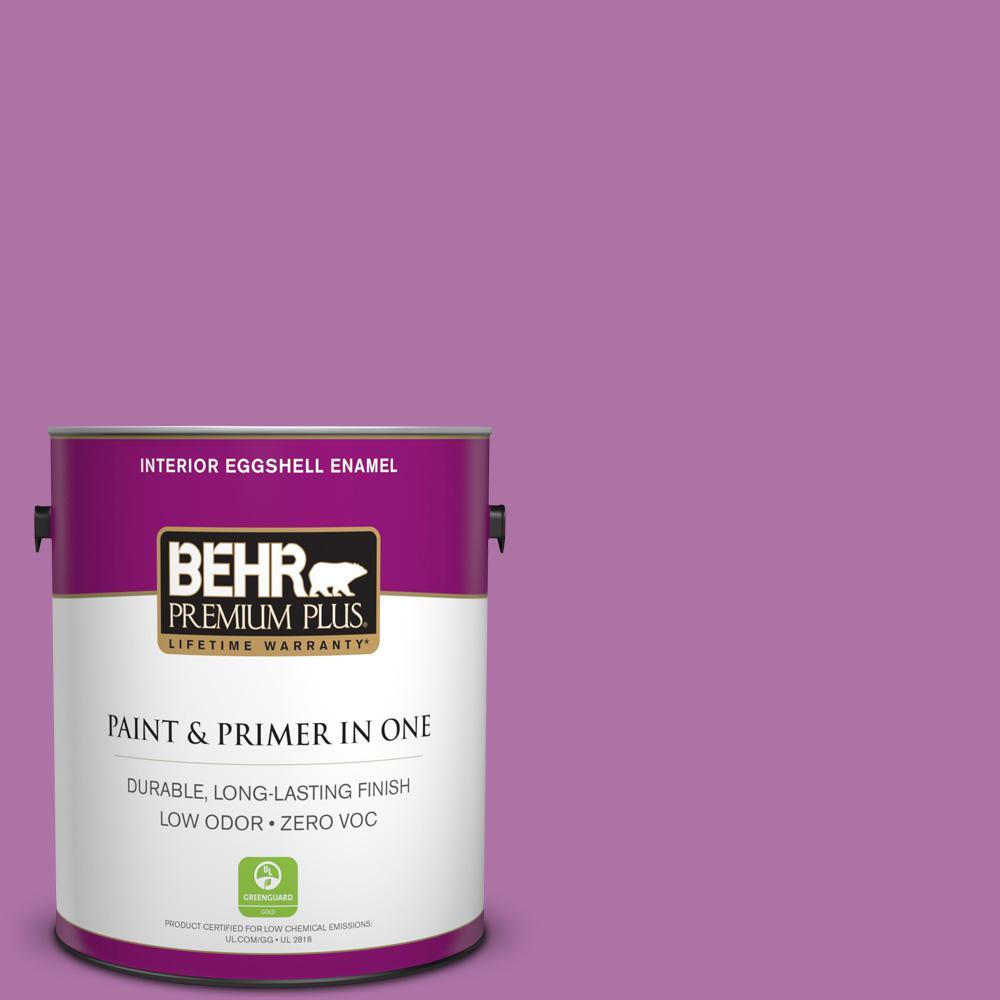 BEHR Premium Plus 1-gal. #670B-6 Orchid Kiss Zero VOC Eggshell Enamel Interior Paint