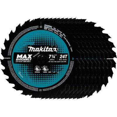 7-1/4 in. 24T Carbide-Tipped Max Efficiency Ultra-Thin Kerf Circular Saw Blade, Framing (10-Pack)