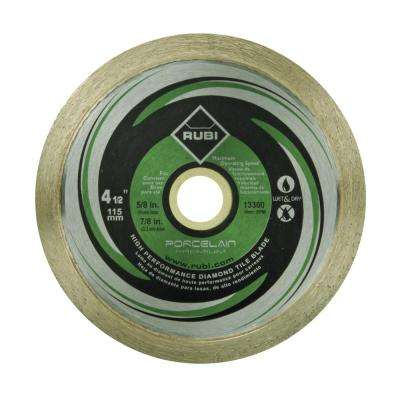 4 1 2 In Premium Porcelain Diamond Blade For Dry And Wet Cutting