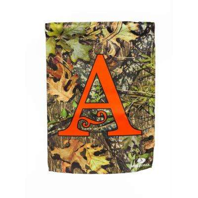 Mossy Oak 2-1/2 ft. x 3-2/3 ft. Monogrammed A 2-Sided Sublimated House Flag