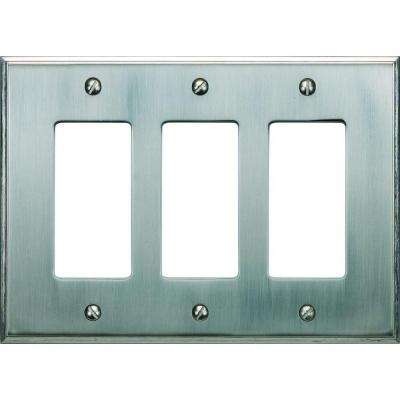 Sutton Plate Collection 3 Rocker Wall Plate - Brushed Nickel