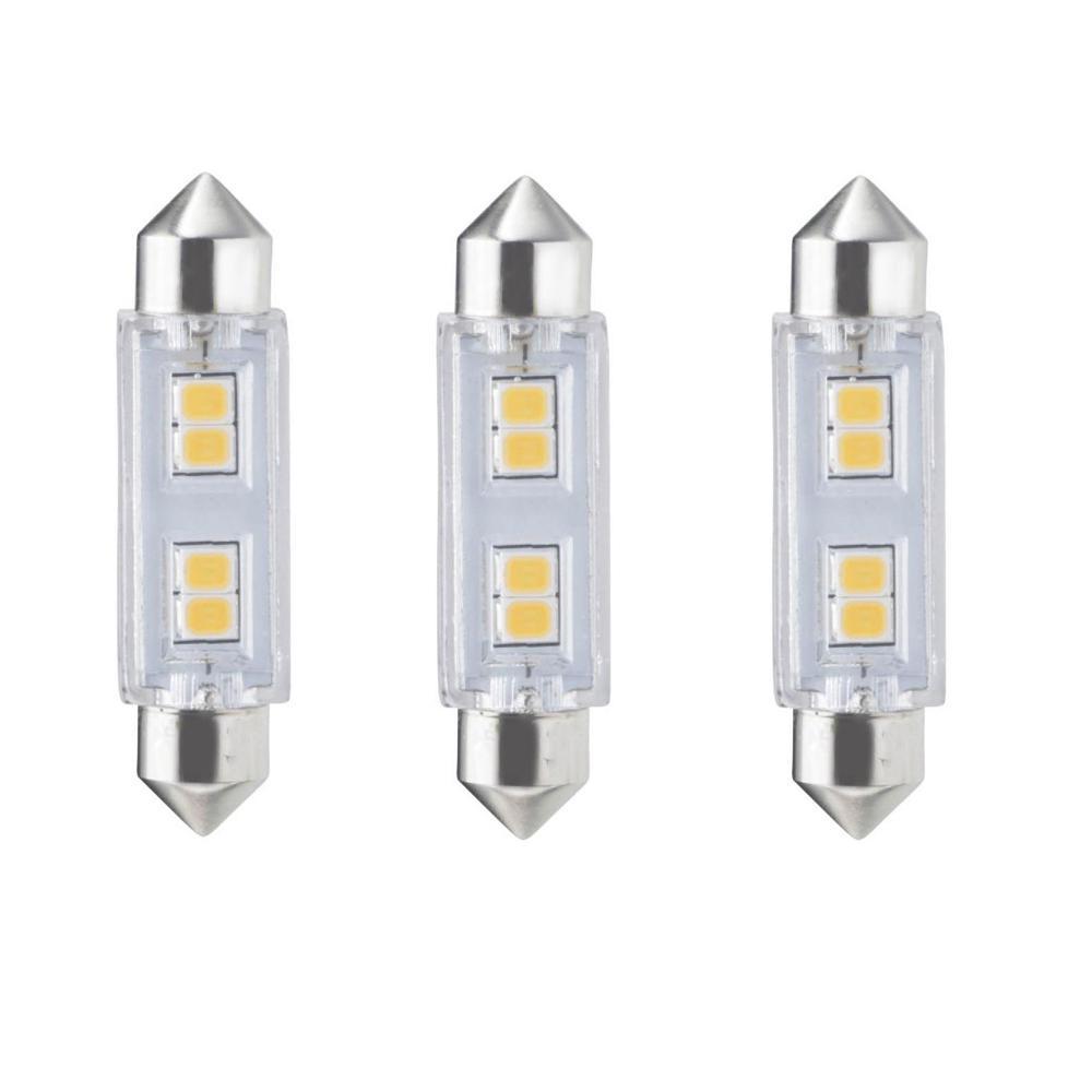 20-Watt Equivalent T3 Non-Dimmable Festoon LED Light Bulb Soft White Light (3-Pack)