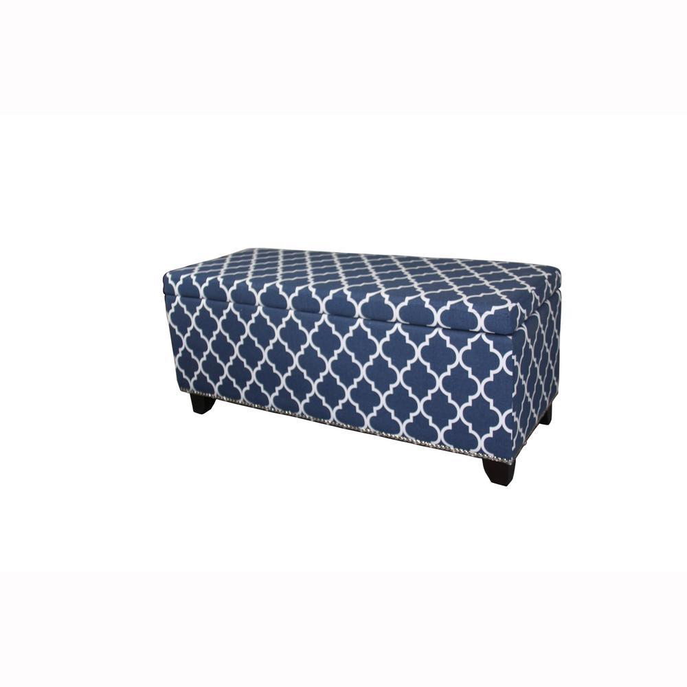 Denim Blue Storage Bench