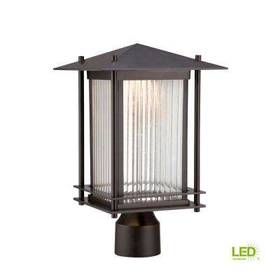 Hadley Burnished Bronze Outdoor LED Post Lantern
